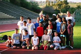 Youth members of the Southern California Cheetahs